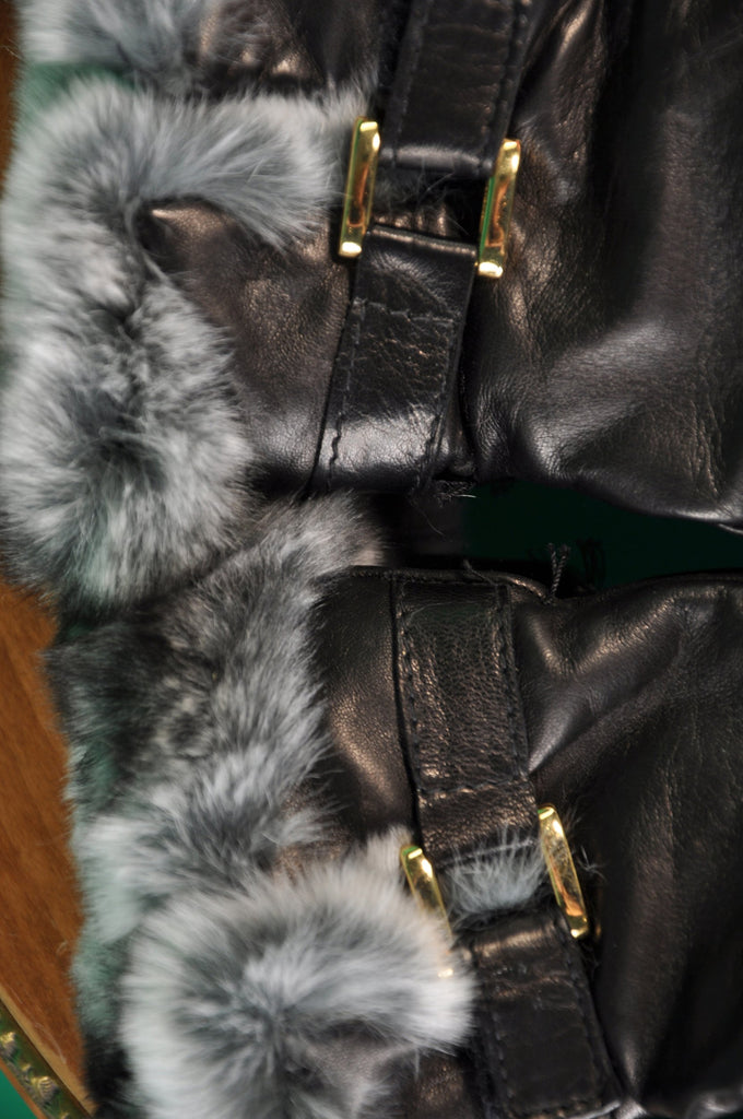 Women's Hand Made Fur Lined Lambskin Dress Gloves