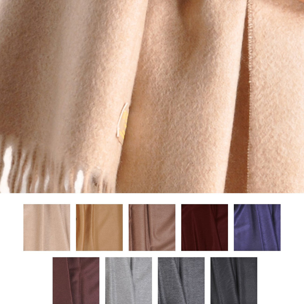 "Stole: Begg 29""x72"" Cashmere Stole from Scotland-Dark Colors"