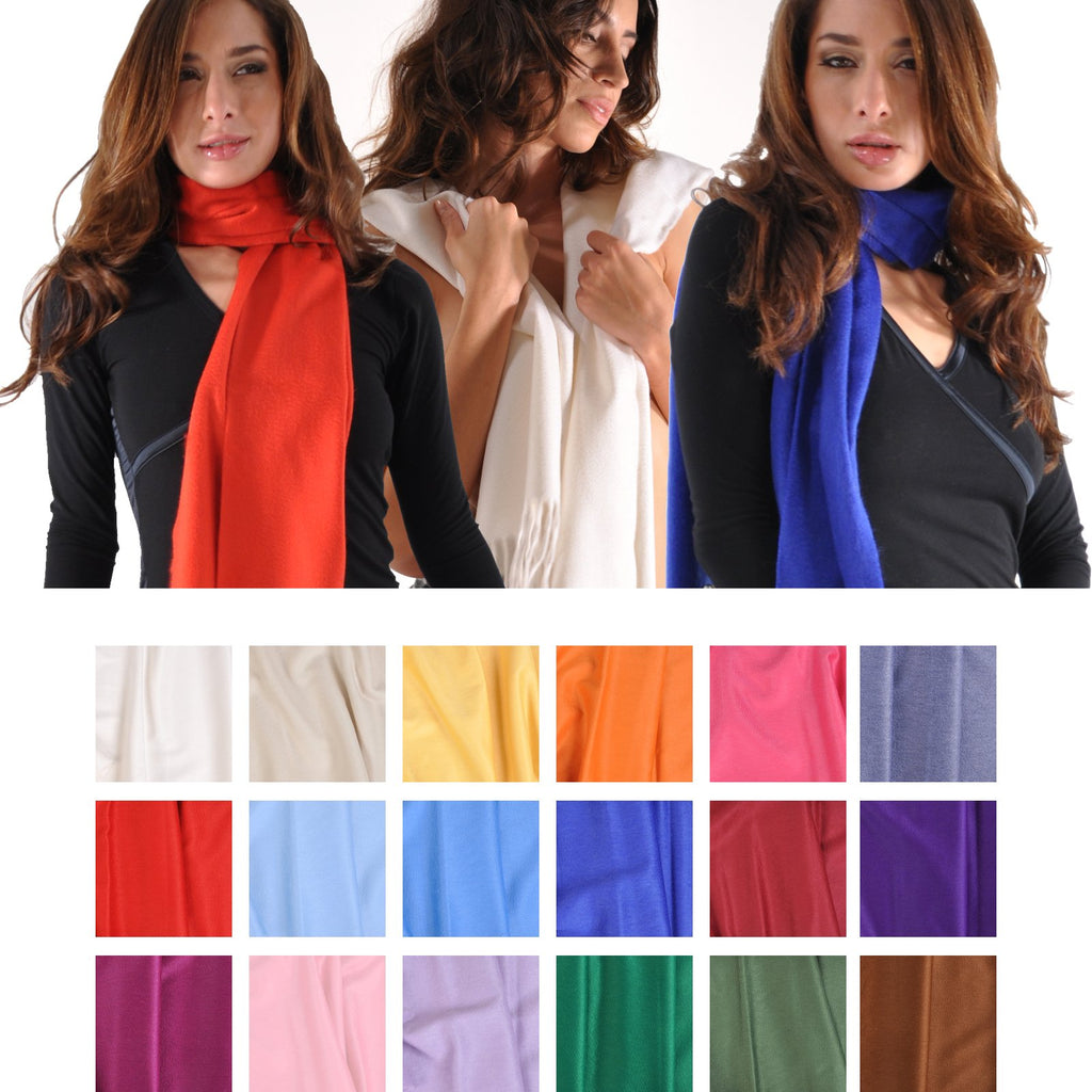 Begg Large Cashmere Scarf from Scotland-Light Colors