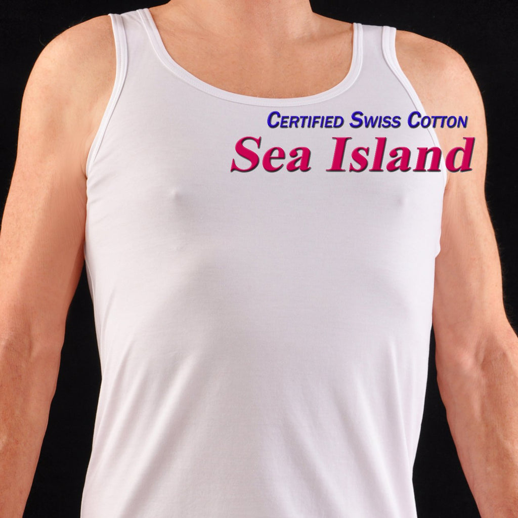 Bresciani Pure Sea Island Cotton Tank Shirt/Vest