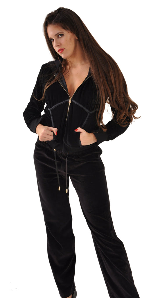A Lady P Couture Cotton Velvet Jacket & Pants