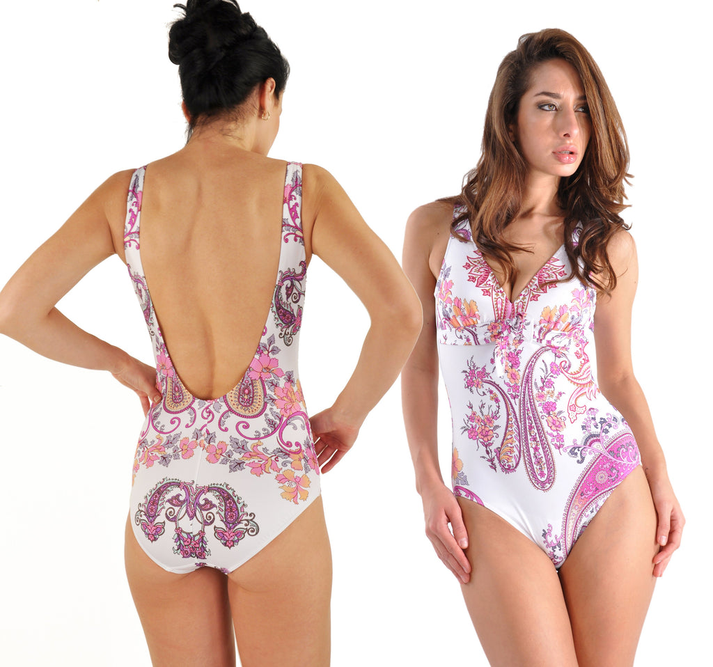 Byzance by Janine Robin One-Piece Original Art-Print French Swimsuit