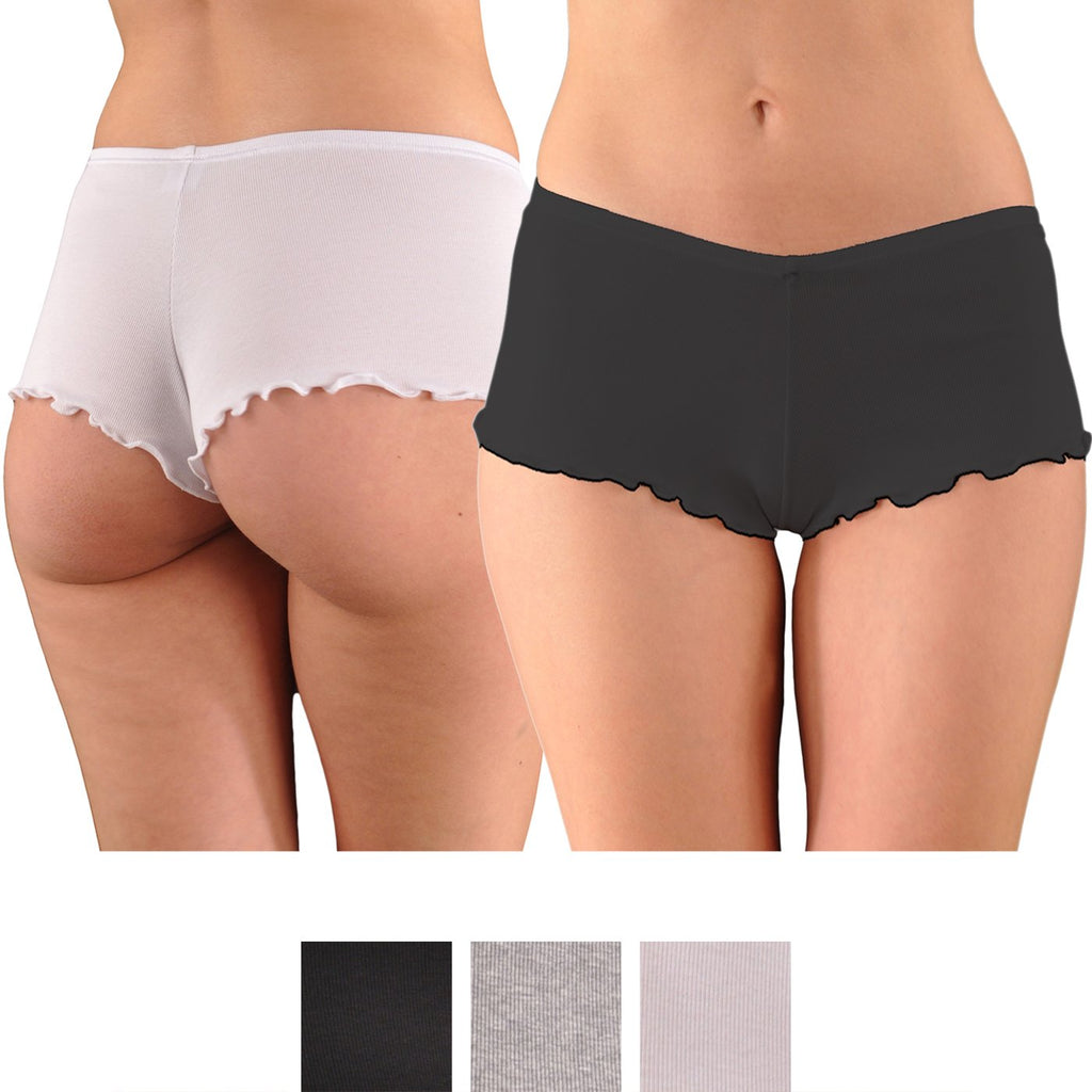 A Kabbaz-Kelly Design: Pure Grace Elite Italian Mini-Rib Cotton Cheekini Panty