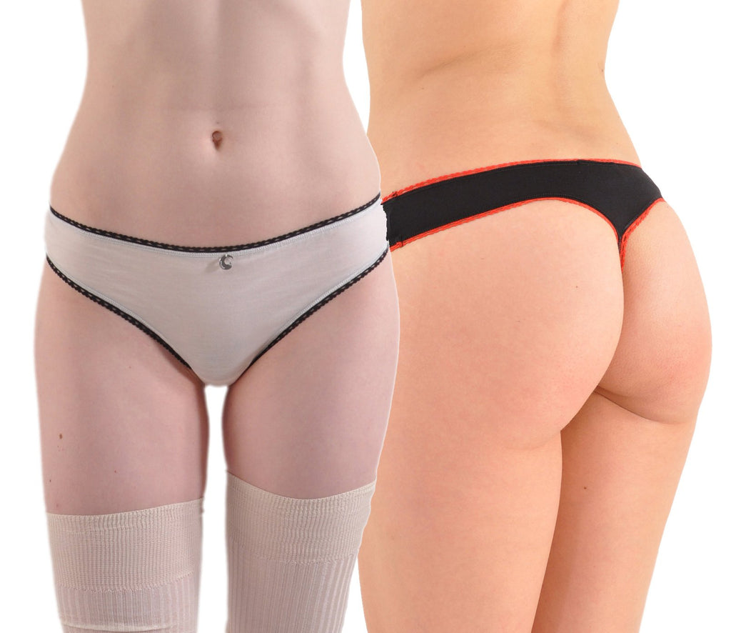 A Kabbaz-Kelly Design: Italian Silk & Cotton Hip Thong Panty
