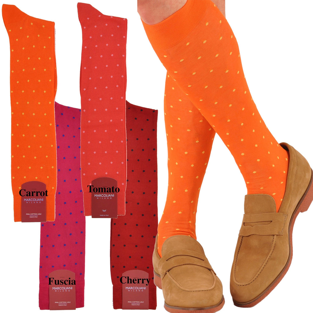 OSFM Cotton Fun Dots Over-the-Calf Socks