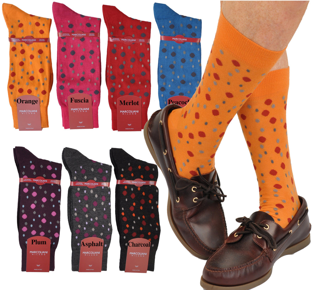 ExtraFine Merino Bollicine Fancy Dots Mid Calf Socks
