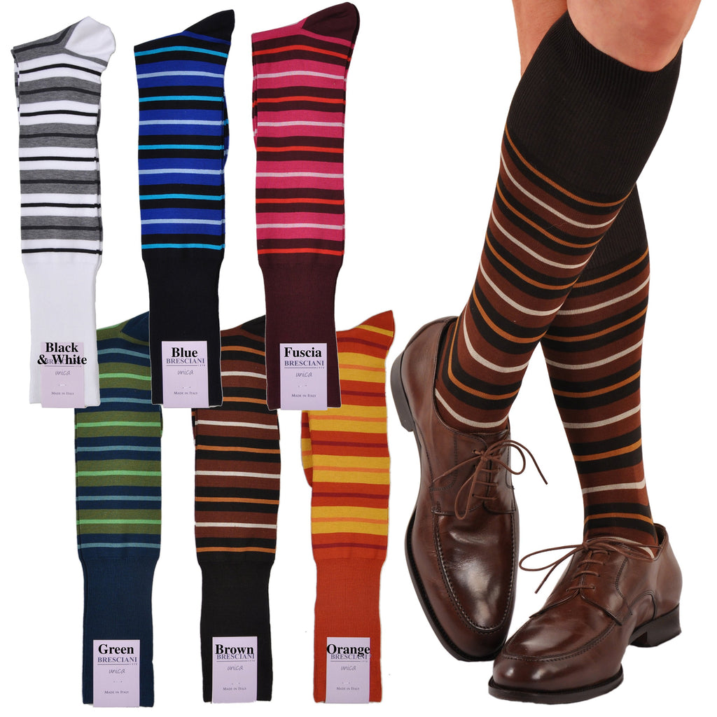 Las Vegas Bold Horizontal Stripe Over-the-Calf Cotton Socks