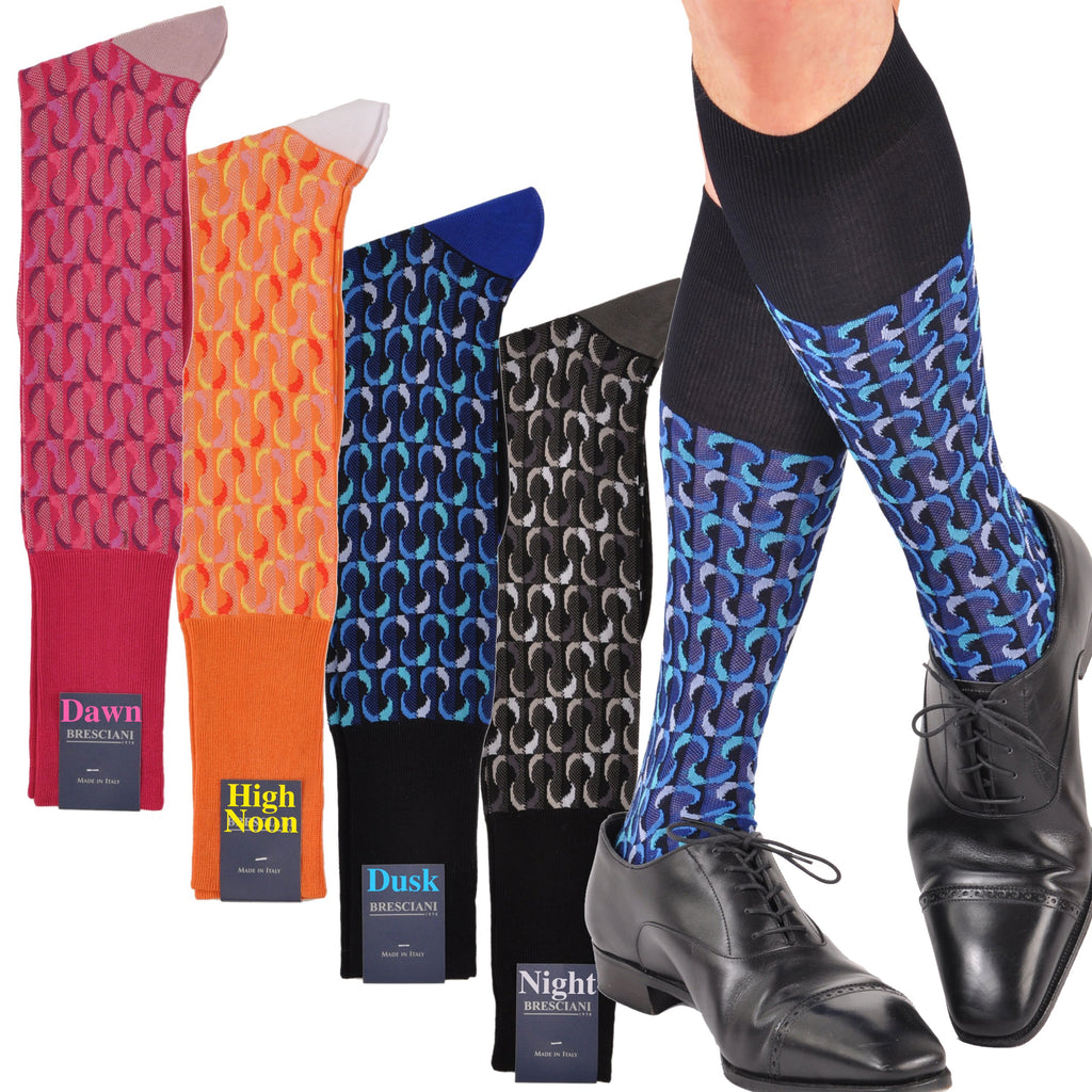 Bresciani's Surrealistic Emotion Cool-wearing Cotton Pique-weave OTC Fun Socks