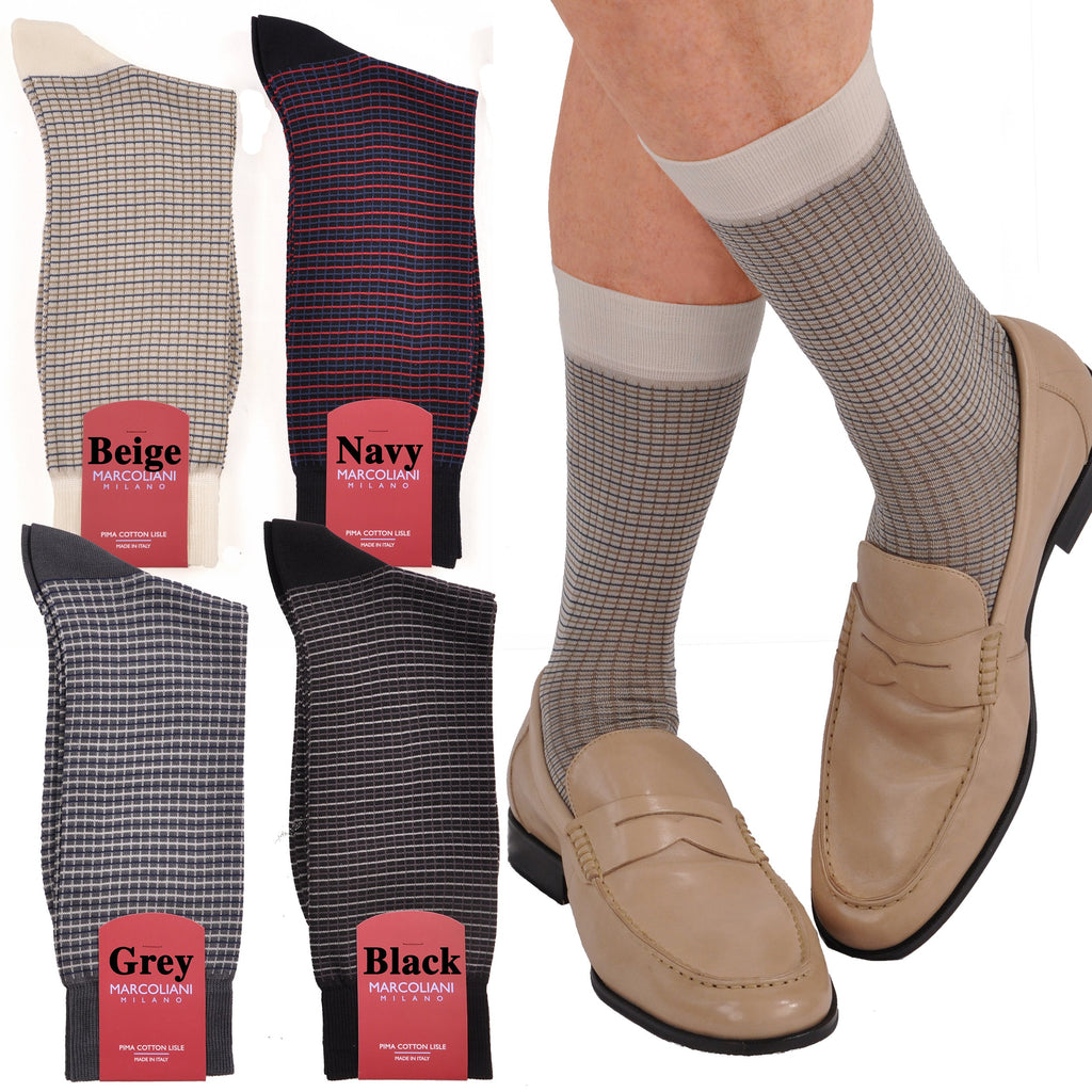 Classic Mid-Calf Tattersall Check Conservative Sock
