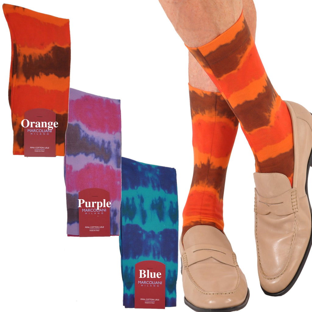 Tie Dye Mid-Calf Cotton Fun Socks