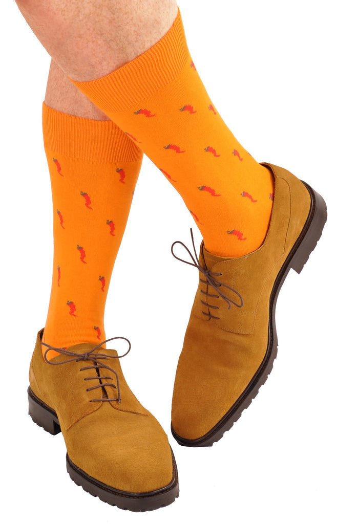 Fire Orange (Shown in Mid Calf Length)