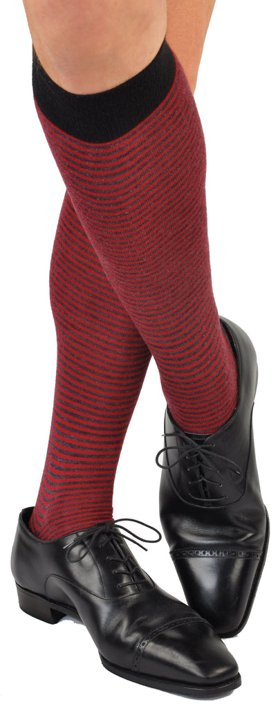 ExtraFine Merino Over-the-Calf Palio Horizontal Candy Stripe Socks