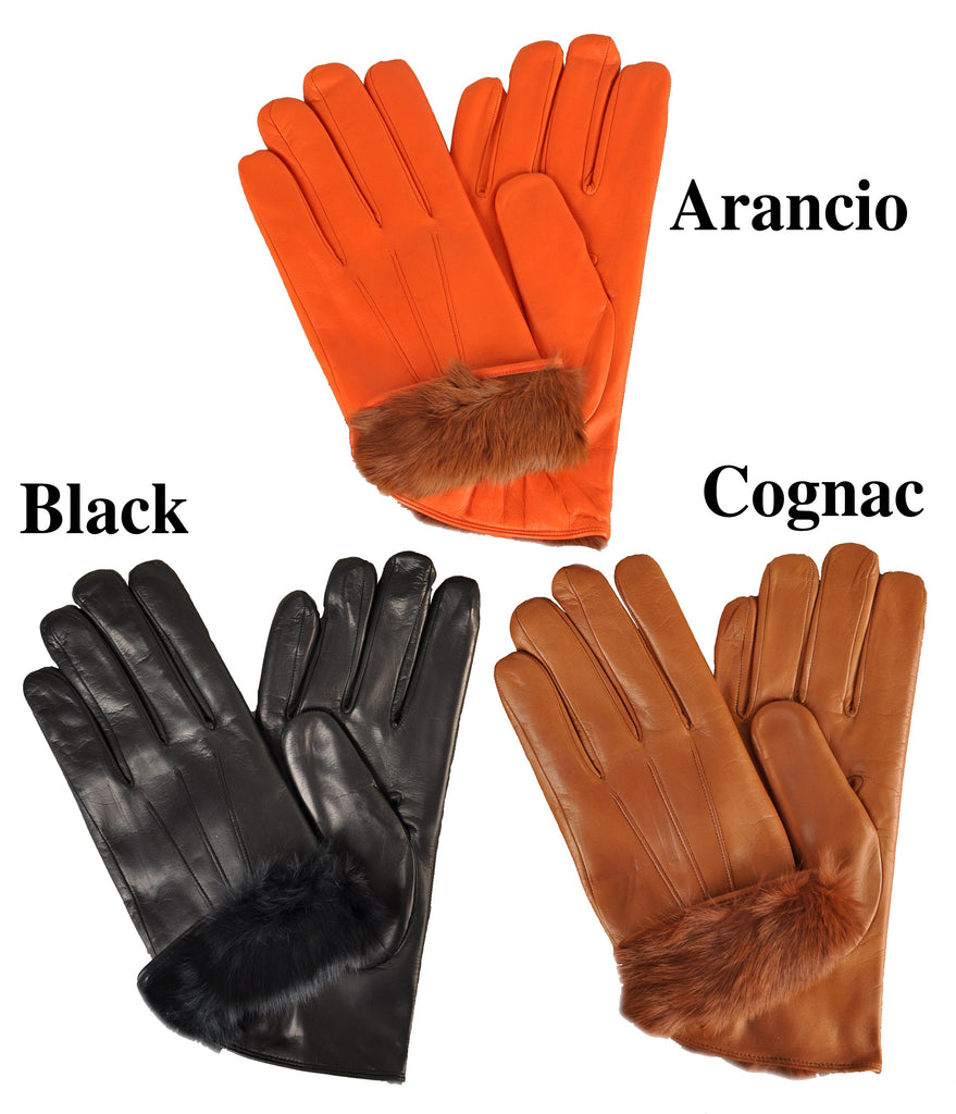 Men's Fur-Lined Italian Lambskin Gloves