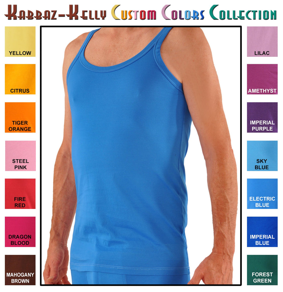 Custom Colors by Kabbaz-Kelly: Supremo Reale Narrow Strap Cotton Tank Shirt