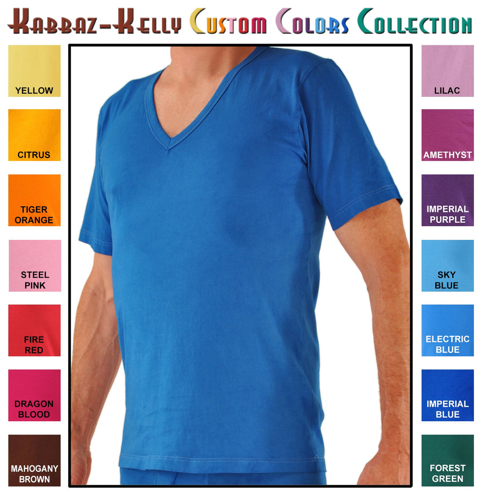 Custom Colors by Kabbaz-Kelly: Supremo Reale Cotton V-Neck