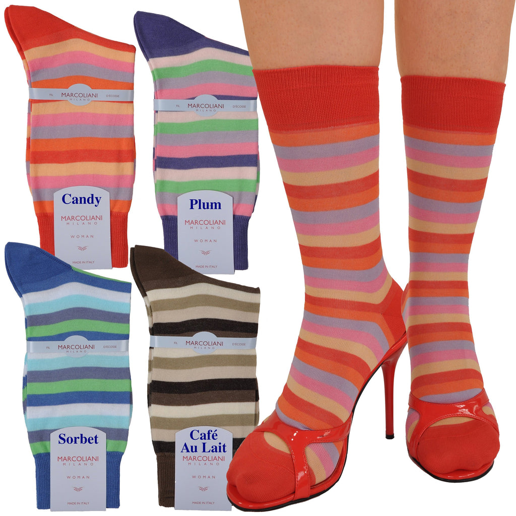 Bold Ankle/Trouser Length Rigatto Skipper Stripe Sock