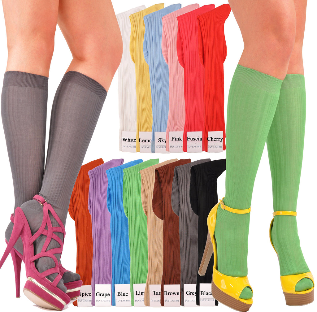 A World's Finest Selection: Cotton Sophisticated Rib Knee-High Socks