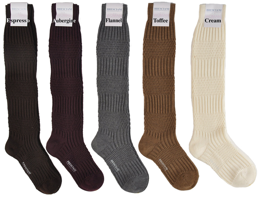 ExtraFine Merino Cable Knit Knee-Highs
