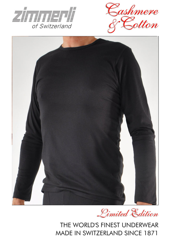 Zimmerli Cashmere & Cotton Crewneck Long Sleeved Shirt Rare Collector's Edition