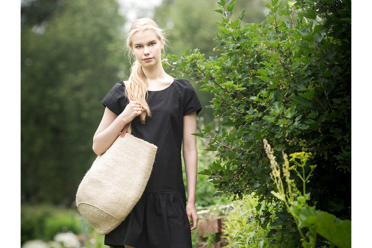 beautiful shoulder bag made of sisal for summer