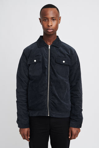 "BACKZIP WORK JACKET ""MIDNIGHT BLUE"""