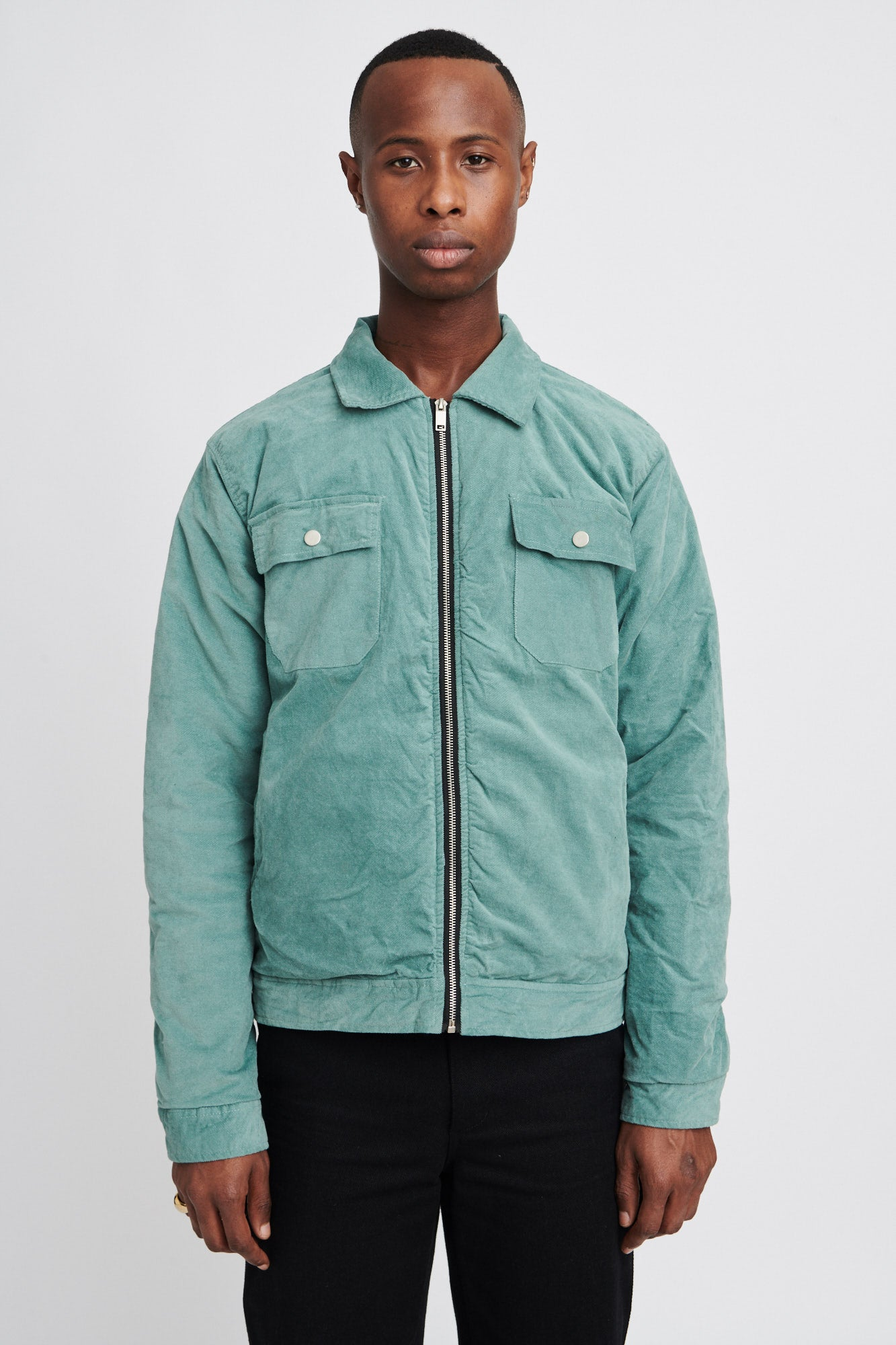 "BACKZIP WORK JACKET ""MINT"""
