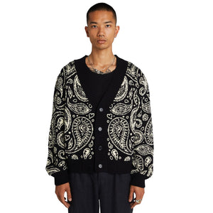 "PAISLEY CARDIGAN ""INK"""