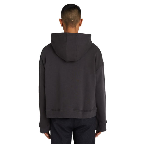 "CROPPED HOODIE ""CHARCOAL"""