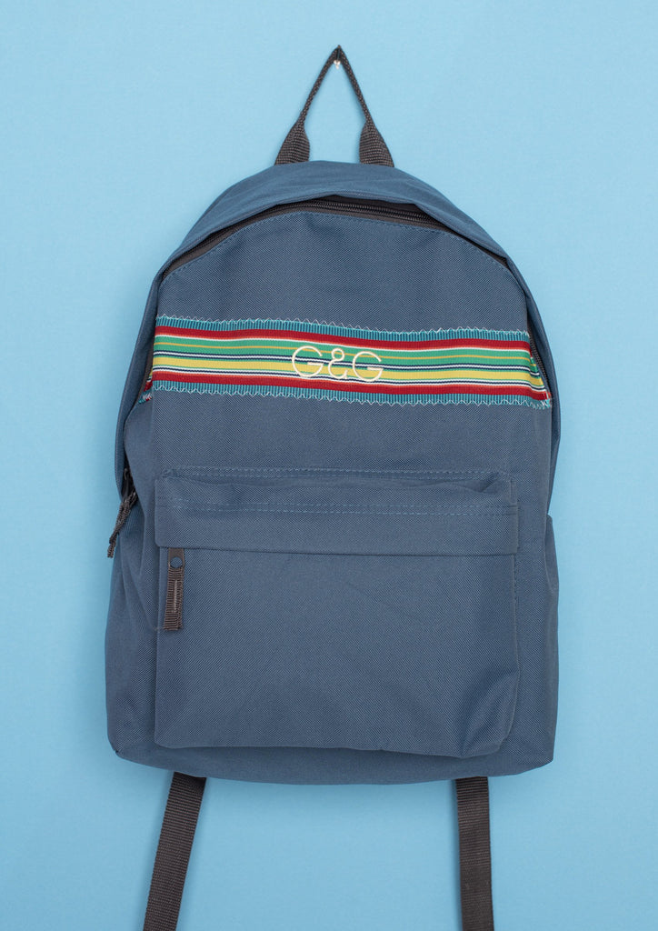 Unisex Indigo Tumbling Ribbon Backpack,  | Goose & Gander