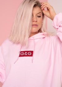 Unisex Simple Patch Hood, Baby Pink | Goose & Gander