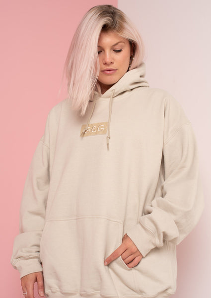 Unisex Simple Patch Hood, Sand | Goose & Gander