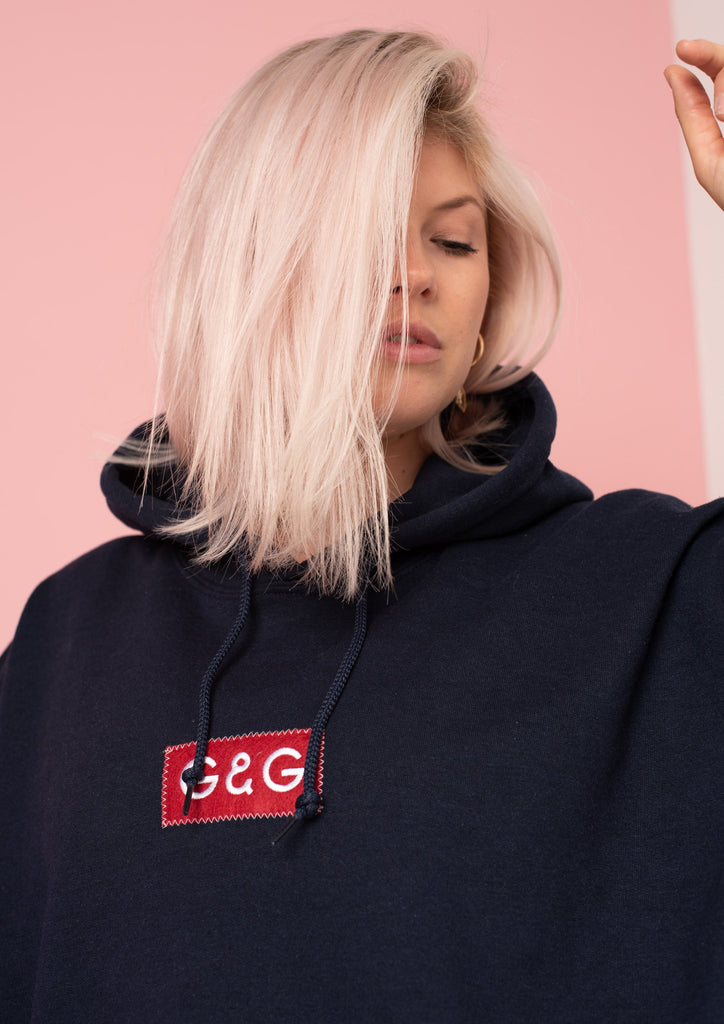 Unisex Simple Patch Hood, Navy | Goose & Gander