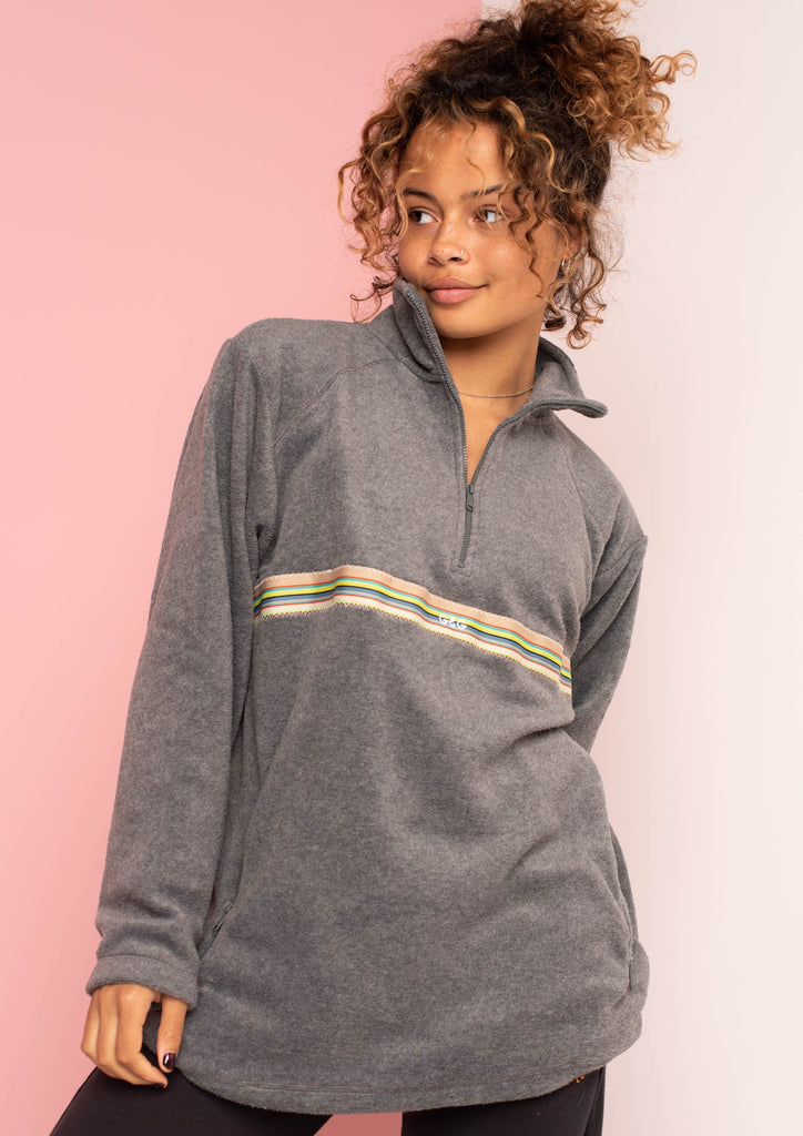 G&G Unisex Bass-Vintage Ribbon 1/4 Zip Fleece