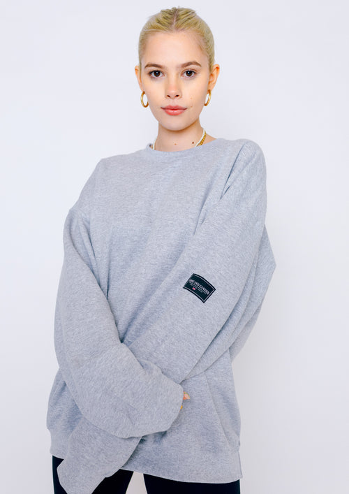 Unisex LTD Patch Sweat, Sports Grey | Goose & Gander