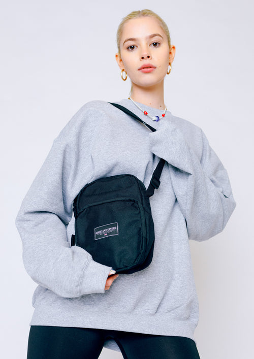 Unisex LTD Patch Cross Over Bag, Black | Goose & Gander