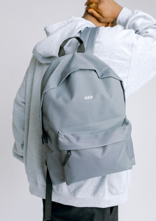 Unisex Simple Rucksack, Graphite Grey | Goose & Gander
