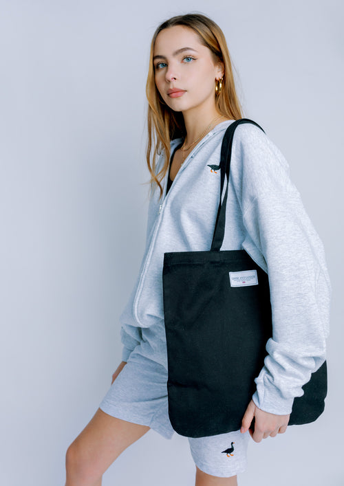 Unisex Organic LTD Patch Tote, Black | Goose & Gander