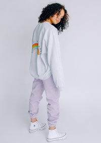 Unisex Big Rainbow Sweat, Ash | Goose & Gander