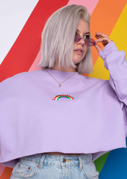 G&G Cropped Rainbow EM Sweat