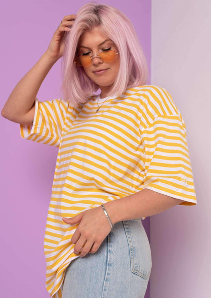 G&G Unisex Simple Striped S/S Tee