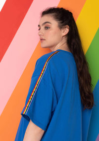 Unisex Rainbow Ribbon Tee, Royal Blue | Goose & Gander