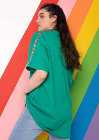 Unisex Rainbow Ribbon Tee, Kelly Green | Goose & Gander