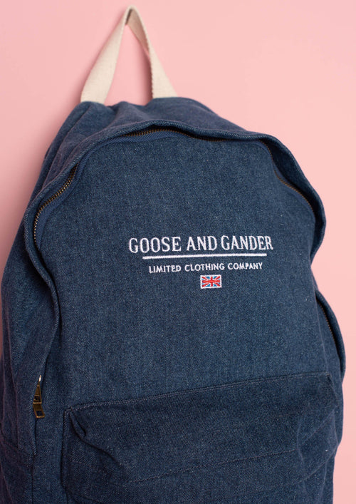 Unisex LTD Denim Blue Backpack, Denim Blue | Goose & Gander