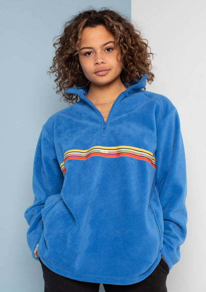 Unisex Sunset-Octave Ribbon 1/4 Zip Fleece, Royal Blue | Goose & Gander