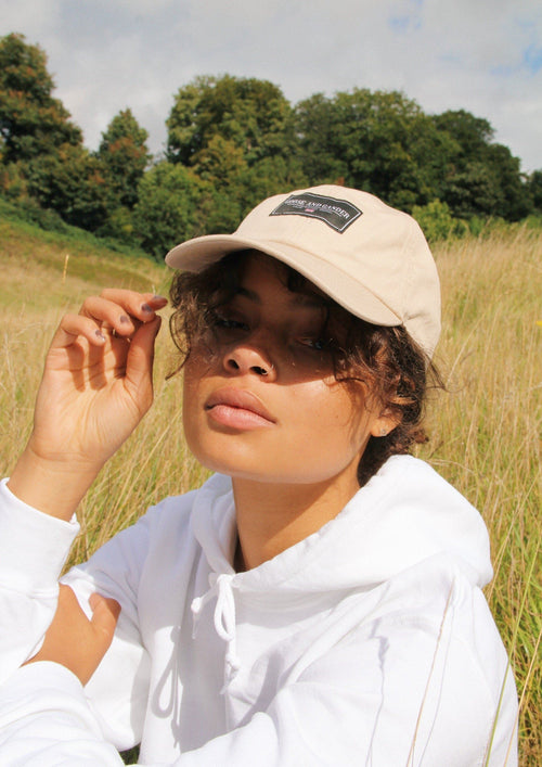 Unisex Organic Cotton LTD Patch Cap, Sand | Goose & Gander