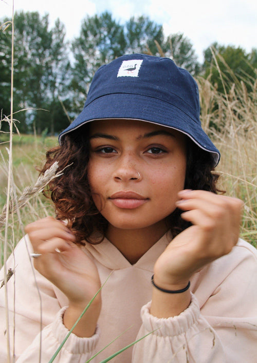 Unisex Original Patch Bucket Hat, Navy Blue | Goose & Gander