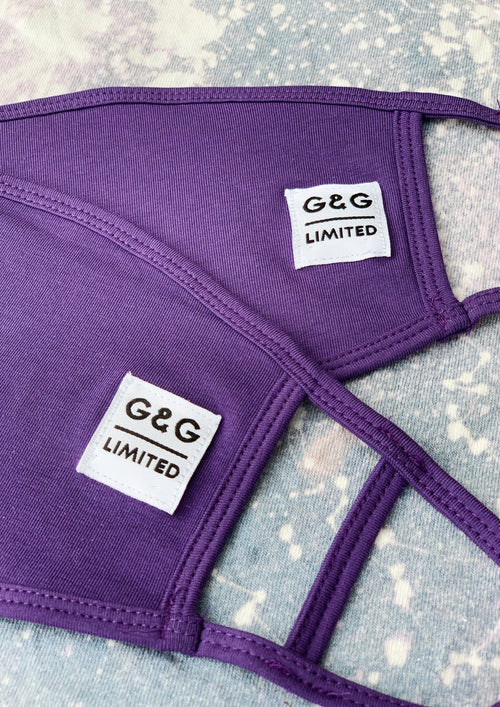 Unisex Purple Tag Face Covering,  | Goose & Gander