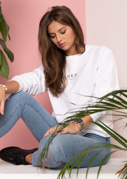 Unisex Layer Long Sleeve Tee, White | Goose & Gander