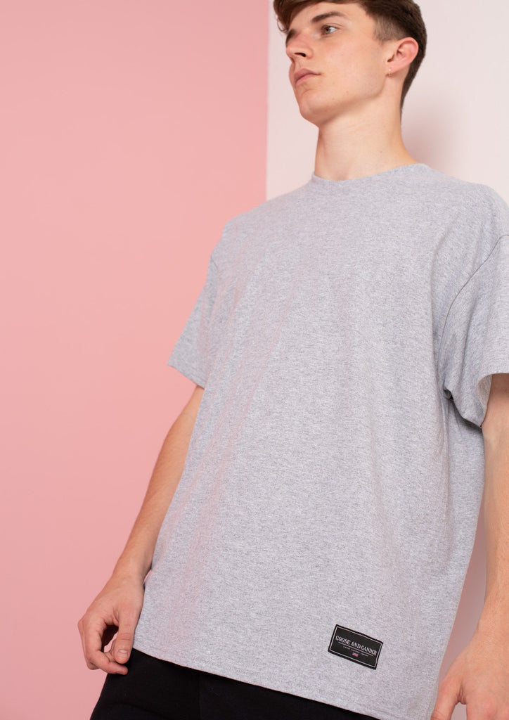Unisex LTD Logo Patch Tee, Sports Grey | Goose & Gander