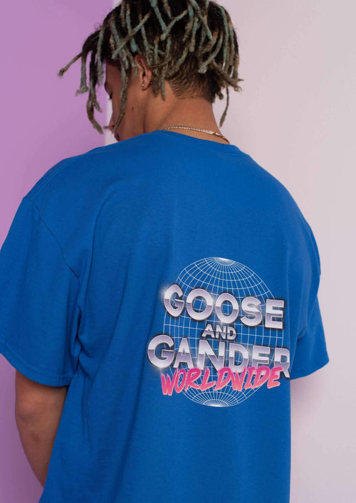 Unisex Worldwide Tee, Royal Blue | Goose & Gander